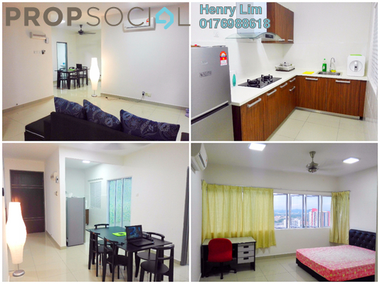 For Rent Condominium at Koi Prima, Puchong Freehold Fully Furnished 3R/2B 1.4k