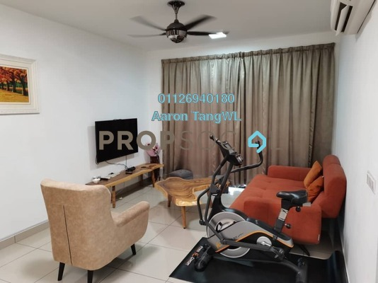 For Rent Condominium at The Henge Residence, Kepong Freehold Fully Furnished 4R/2B 2.2k