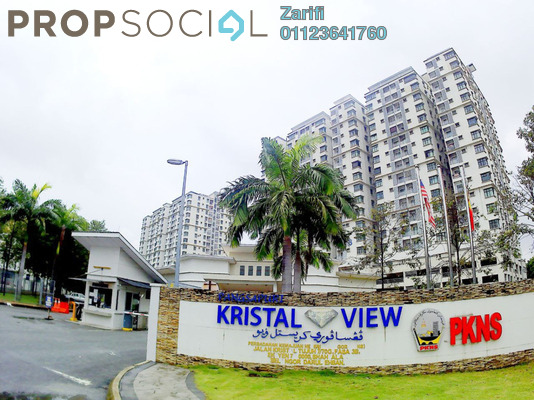 For Sale Condominium at Kristal View, Shah Alam Freehold Unfurnished 4R/2B 459k