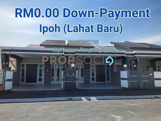 Terrace For Sale in Bandar Lahat Baru, Ipoh Freehold Unfurnished 3R/2B 214k