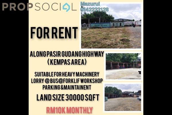 Land For Rent in Taman Bukit Kempas, Johor Bahru Freehold Unfurnished 3R/1B 10k