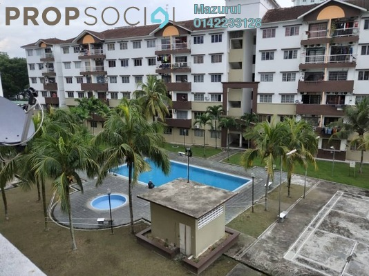 For Rent Apartment at Taman Tampoi Indah, Johor Bahru Freehold Unfurnished 3R/2B 1k