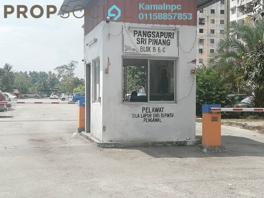 For Sale Apartment at Taman Sri Pinang, Georgetown Freehold Semi Furnished 3R/2B 195k