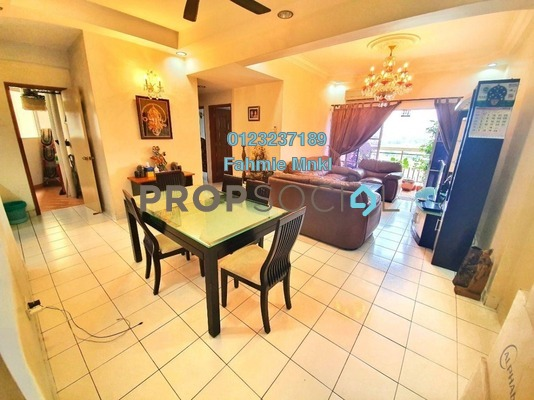 Condominium For Sale in La Vista, Bandar Puchong Jaya Freehold Semi Furnished 4R/2B 560k