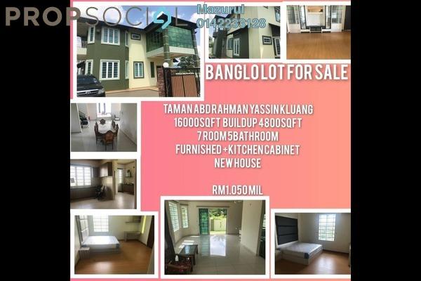 Land For Sale in Kampung Melayu, Kluang Freehold Fully Furnished 7R/5B 1.05m
