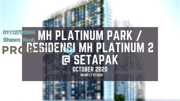 Condominium For Sale in MH Platinum Residency, Setapak Leasehold Unfurnished 2R/2B 383k