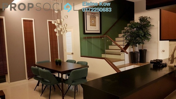 For Rent Townhouse at Challis Damansara, Sunway Damansara Freehold Fully Furnished 3R/3B 4.5k