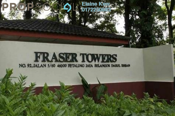 For Sale Condominium at Fraser Towers, Gasing Heights Freehold Semi Furnished 3R/3B 738k