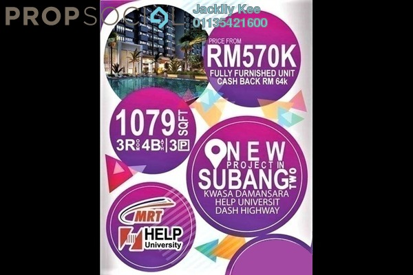 For Sale Condominium at Nadayu 801, Subang Freehold Fully Furnished 4R/4B 670k