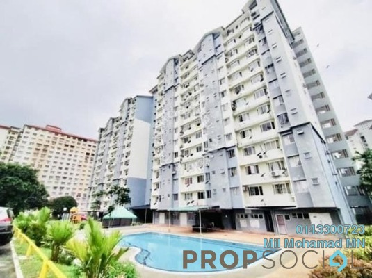 For Sale Apartment at Lestari Apartment, Bandar Sri Permaisuri Freehold Semi Furnished 3R/2B 363k