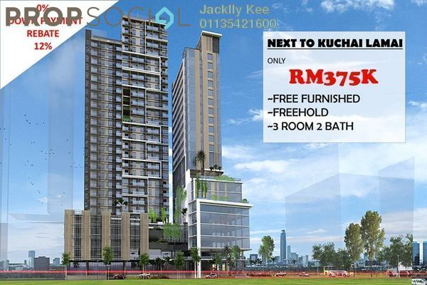 For Sale Serviced Residence at Kuchai East, Kuchai Lama Freehold Semi Furnished 1R/1B 370k