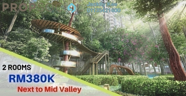 For Sale Serviced Residence at Cubic Botanical, Kuala Lumpur Freehold Semi Furnished 3R/2B 535k