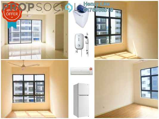 For Rent Condominium at Casa Green, Bukit Jalil Freehold Semi Furnished 3R/2B 1.6k