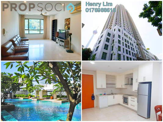 For Rent Condominium at The CapSquare Residences, Dang Wangi Freehold Fully Furnished 3R/3B 3.2k