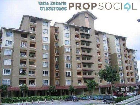 Serviced Residence For Rent in Paradesa Tropika, Bandar Sri Damansara Freehold Semi Furnished 3R/2B 1.5k