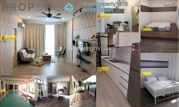 For Rent Apartment at ZEN66, Kuching Freehold Fully Furnished 2R/2B 1.7k