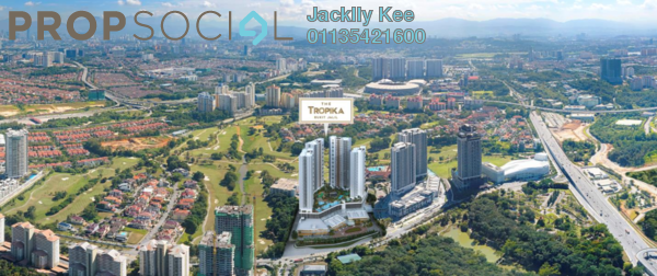For Sale Condominium at The Tropika, Bukit Jalil Freehold Semi Furnished 3R/2B 889k