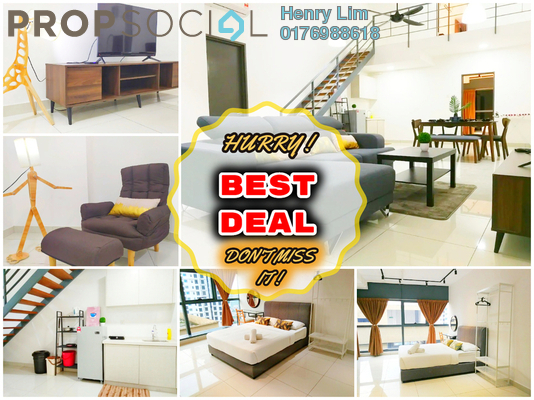 For Rent Duplex at 3 Towers, Ampang Hilir Freehold Fully Furnished 2R/2B 2.5k