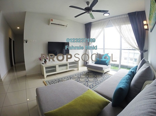 For Rent Condominium at Aurora Residence @ Lake Side City, Puchong Freehold Fully Furnished 3R/2B 1.9k