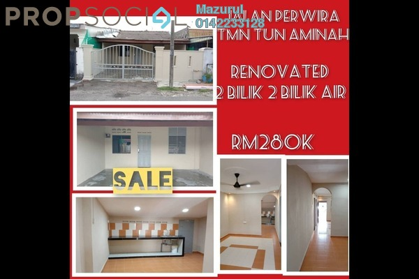 Terrace For Sale in Taman Ungku Tun Aminah, Skudai Freehold unfurnished 2R/2B 280k