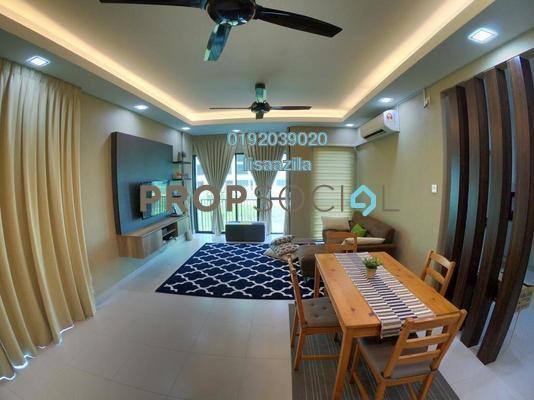 Townhouse For Rent in Cempaka Seri Town Villas, Kota Seriemas Freehold Fully Furnished 3R/3B 1.7k