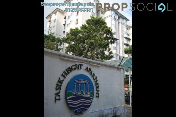 Condominium For Sale in Tasik Heights Apartment, Bandar Tasik Selatan Leasehold Unfurnished 3R/2B 320k