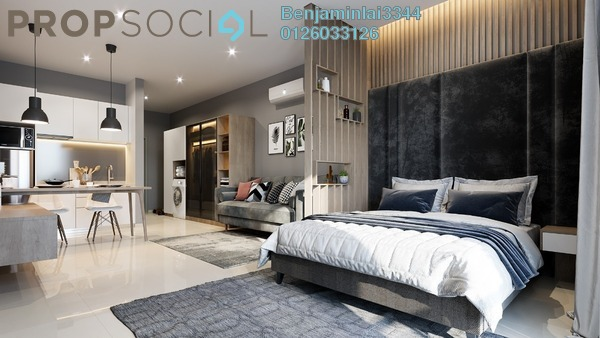 Serviced Residence For Sale in Chambers Kuala Lumpur, Chow Kit Freehold Semi Furnished 1R/1B 370k