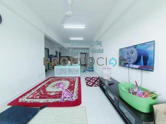 Apartment For Sale in Damai Apartment, Shah Alam Leasehold Unfurnished 3R/2B 335k