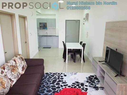 Serviced Residence For Rent in Suria Residence, Bukit Jelutong Freehold Fully Furnished 2R/1B 1.5k