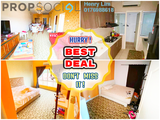Serviced Residence For Sale in Windsor Tower, Sri Hartamas Freehold Fully Furnished 3R/2B 670k
