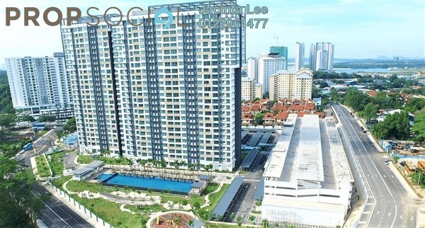 Serviced Residence For Sale in Epic, Johor Bahru Freehold Semi Furnished 1R/1B 197k