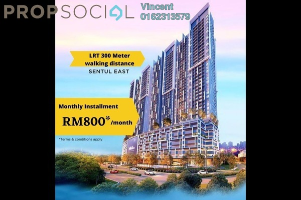 Condominium For Sale in Plaza Sentul, Sentul Freehold Fully Furnished 3R/2B 450k