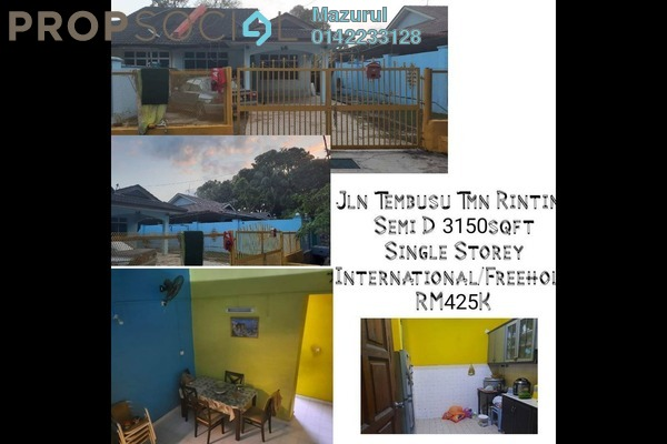 Semi-Detached For Sale in Taman Rinting, Masai Freehold Unfurnished 3R/2B 425k