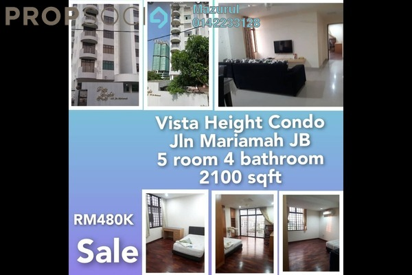 Condominium For Sale in Vista Heights, Johor Bahru Freehold fully_furnished 5R/4B 480k