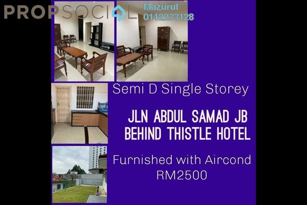 Semi-Detached For Rent in Kampung Bahru, Johor Bahru Freehold Semi Furnished 4R/3B 2.5k