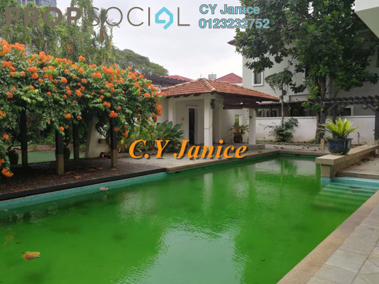 Bungalow For Rent in Agile Embassy Garden, KLCC Freehold Semi Furnished 4R/5B 17k