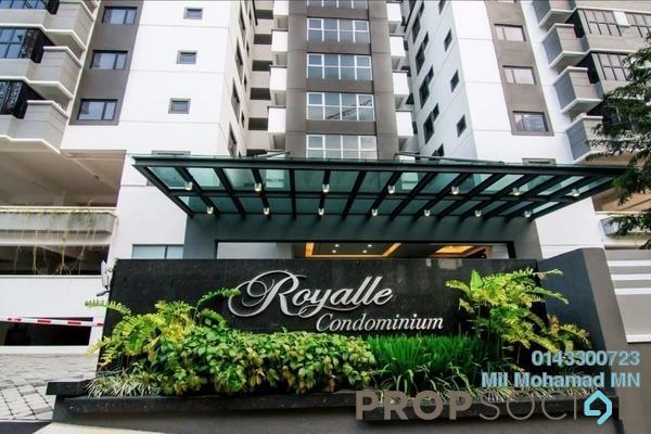 Condominium For Sale in Royalle Condominium, Segambut Freehold Semi Furnished 3R/2B 650k