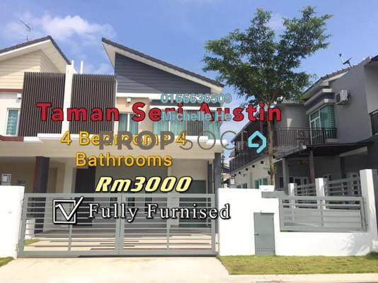Terrace For Rent in Taman Seri Austin, Johor Bahru Freehold Fully Furnished 4R/4B 3k
