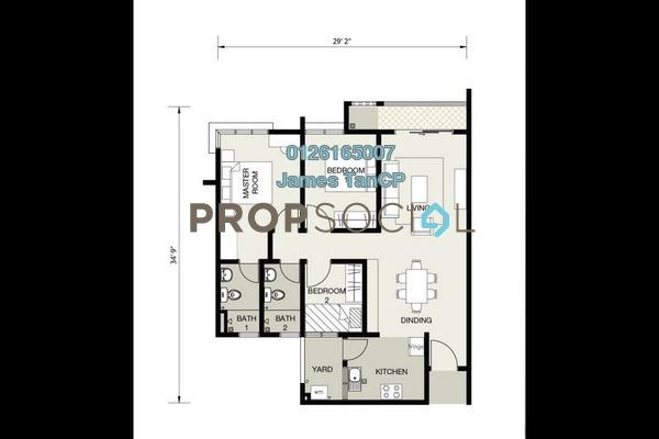 Condominium For Sale in Jalan Ambang Suria, Bandar Puncak Alam Freehold Unfurnished 3R/2B 225k