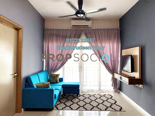 Serviced Residence For Rent in Suria Residence, Bukit Jelutong Freehold Fully Furnished 2R/1B 1.6k