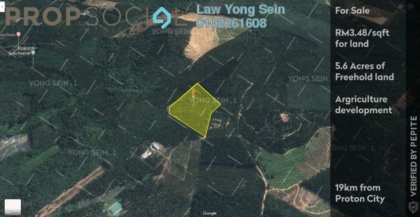 Land For Sale in Kampung Ulu Slim, Slim River Freehold Unfurnished 0R/0B 850k