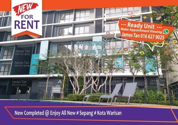 Condominium For Rent in Core SoHo Suites, Sepang Freehold Semi Furnished 1R/1B 900translationmissing:en.pricing.unit