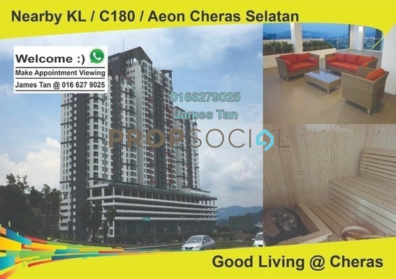 Condominium For Rent in Silk Sky, Balakong Freehold Unfurnished 3R/0B 1.1k