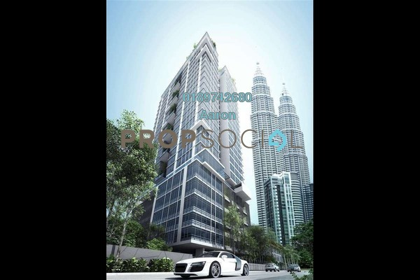 Condominium For Rent in Mirage Residence, KLCC Freehold Fully Furnished 3R/3B 6k