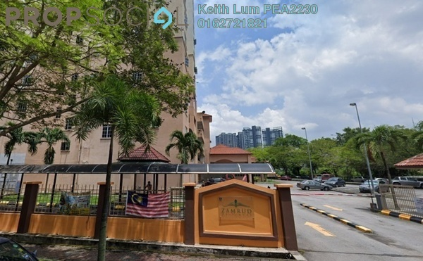 Apartment For Sale in Zamrud Apartment, Old Klang Road Freehold Semi Furnished 3R/2B 370k