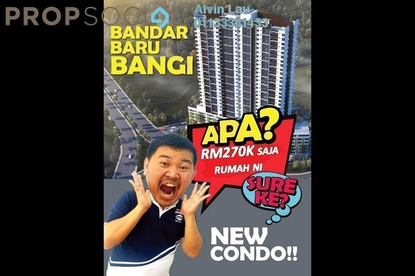 Condominium For Sale in Seksyen 12, Bangi Freehold semi_furnished 2R/1B 292k