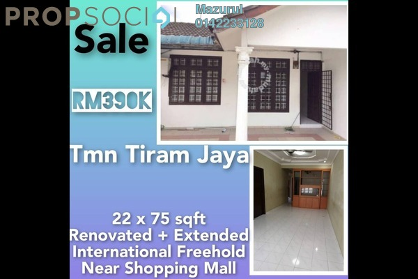 Terrace For Sale in Taman Tiram Jaya, Ulu Tiram Freehold Unfurnished 4R/2B 390k