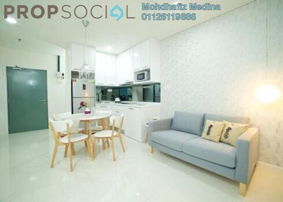 Condominium For Sale in Summer Suites, KLCC Freehold Semi Furnished 0R/1B 520k