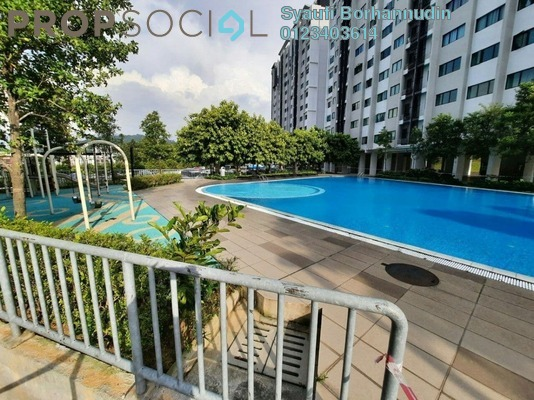 Apartment For Sale in Suria Ixora, Setia Alam Freehold Unfurnished 3R/2B 268k