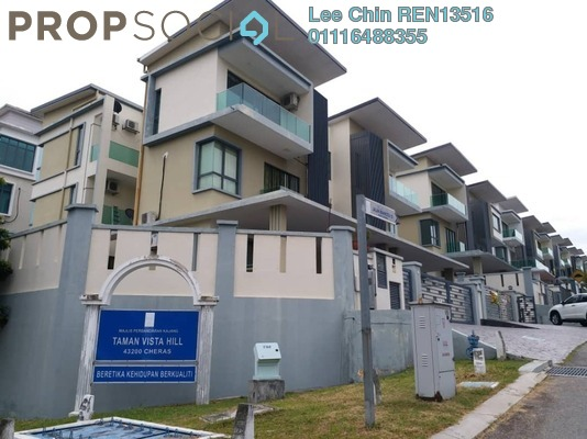 Semi-Detached For Sale in Taman Vista Hill, Bandar Mahkota Cheras Freehold semi_furnished 6R/6B 1.6m